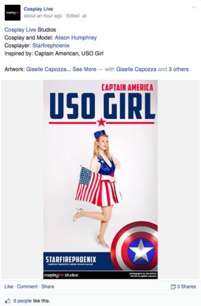 Cosplay Live USO girl