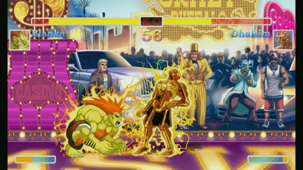 Ultra Street Fighter II - Screenshot - Blanka Vs Dhalsim Electric Thunder